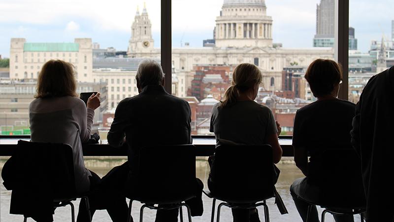 people sitting in Tate Modern