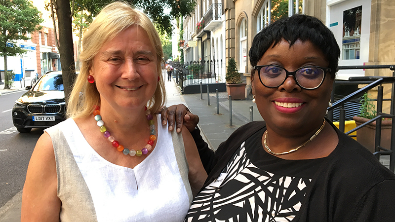 Katharine St John-Brooks and Velma Bennett, organisers of the Third Sector Forum